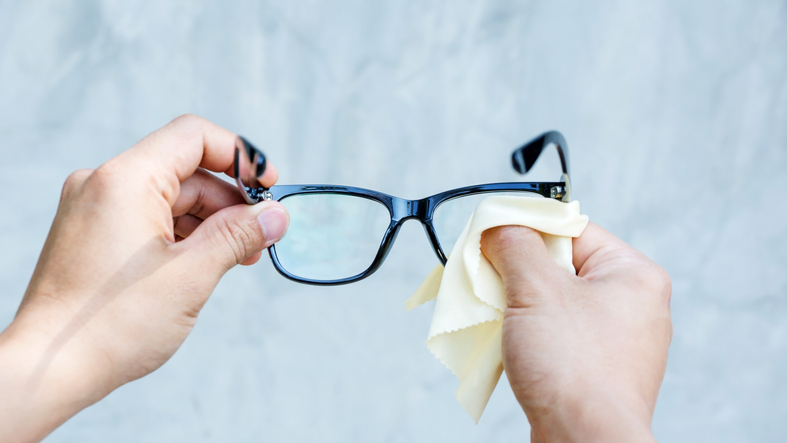 Glasses cleansing and care tips by Gerstein Eye Institute