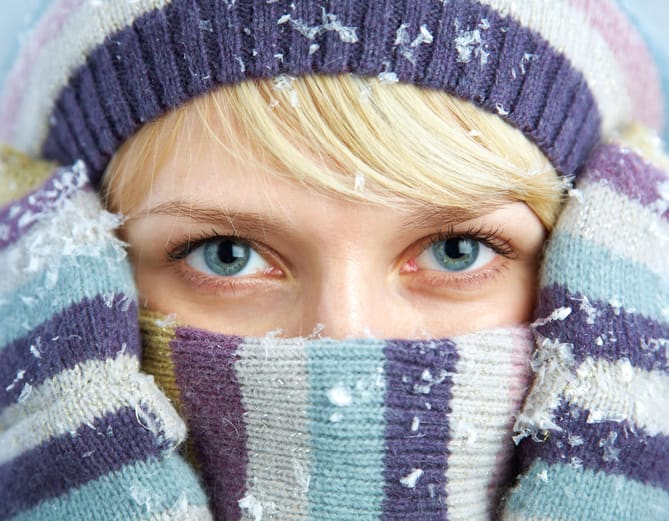 Maintainance for healthy eyes in winter